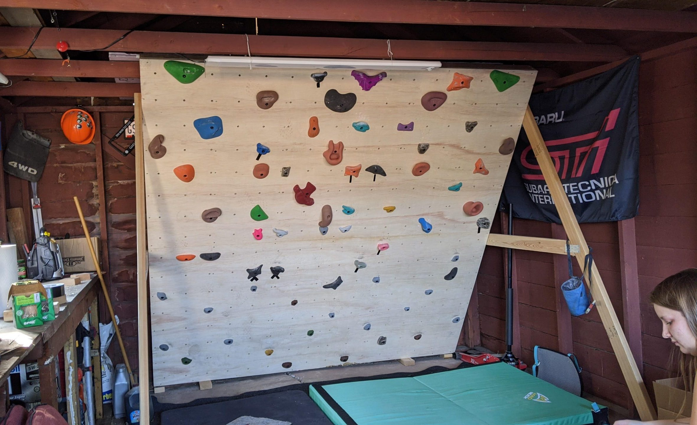 Read more about the article How I Built An Adjustable, Freestanding, Home Climbing Wall