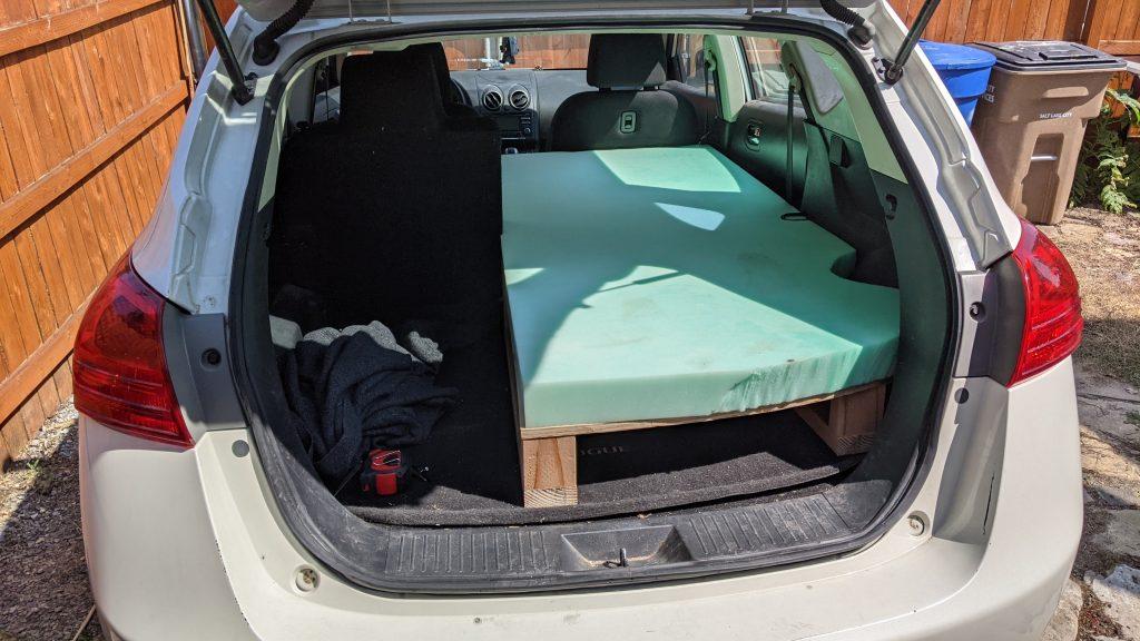 Nissan Rogue Camping Bed